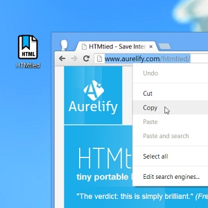 Create portable bookmarks with HTMtied